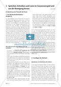 Infotext: Sprechen, Schreiben und Lesen im Zusammenspiel und  aus der Bewegung heraus Thumbnail 0