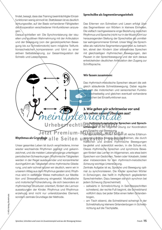 Infotext: Sprechen, Schreiben und Lesen im Zusammenspiel und  aus der Bewegung heraus Preview 1