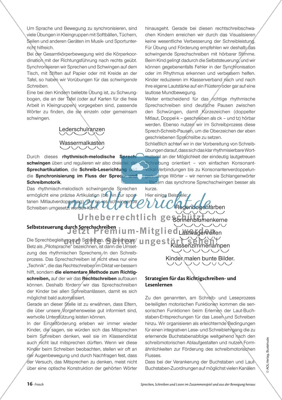 Infotext: Sprechen, Schreiben und Lesen im Zusammenspiel und  aus der Bewegung heraus Preview 2