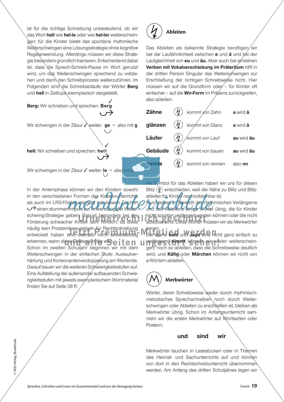 Infotext: Sprechen, Schreiben und Lesen im Zusammenspiel und  aus der Bewegung heraus Preview 5