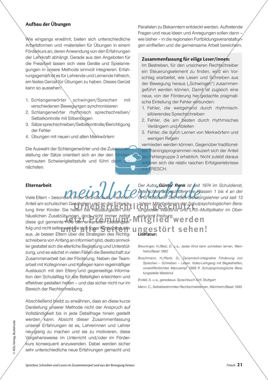 Infotext: Sprechen, Schreiben und Lesen im Zusammenspiel und  aus der Bewegung heraus Preview 7