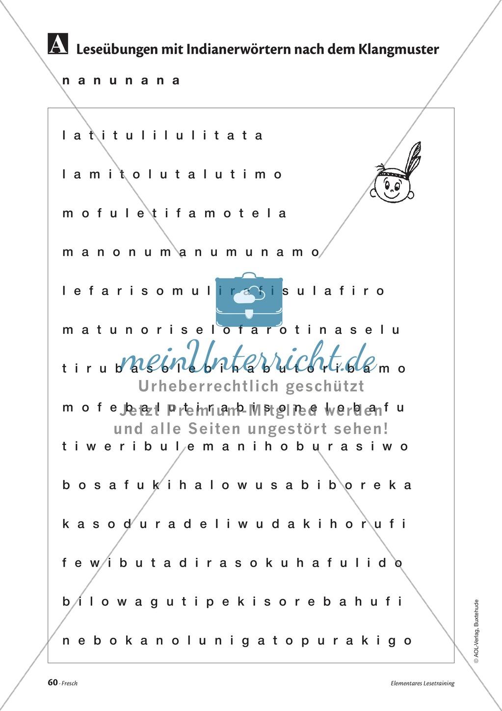Elementares Lesetraining. Mit Infotext, Beispielen und Tipps für Schüler. Preview 1