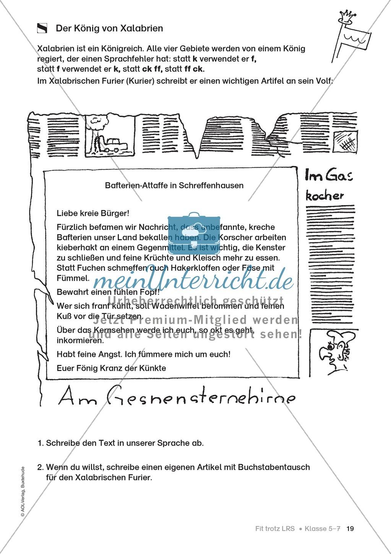 Rechtschreibübungen für Kinder mit LRS: kreative Übungen der FRESCH-Methode Preview 11