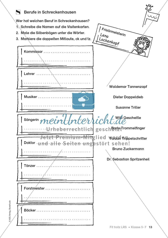 Rechtschreibübungen für Kinder mit LRS: kreative Übungen der FRESCH-Methode Preview 5