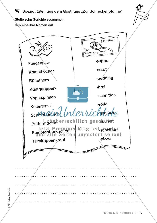 Rechtschreibübungen für Kinder mit LRS: kreative Übungen der FRESCH-Methode Preview 6