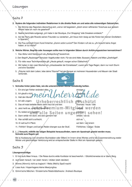 Erklärung und Übung zu Anführungszeichen - wörtliche Rede, Hervorhebungen Preview 4