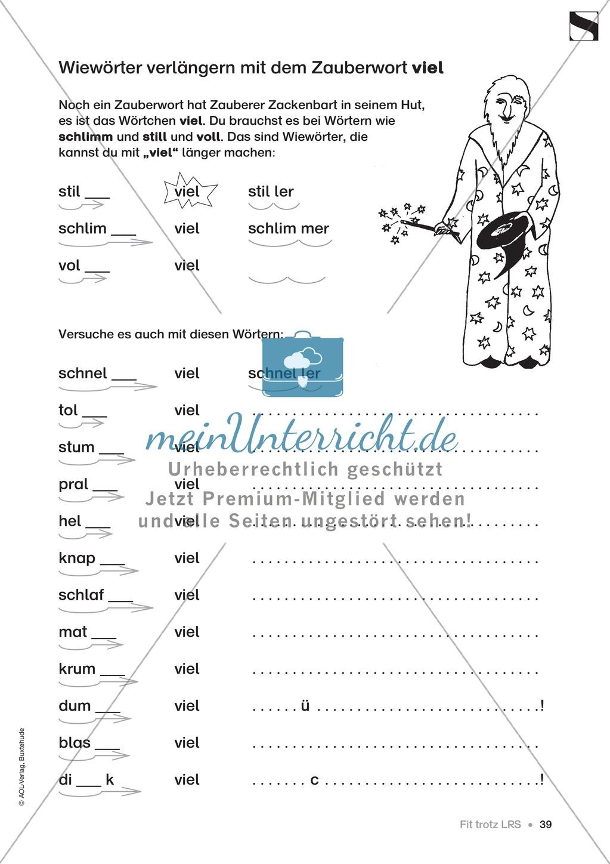 """Übungen für Kinder mit LRS: """"alle"""" und """"viel"""" als Verlängerungswörter zur richtigen Rechtschreibung verwenden Preview 10"""