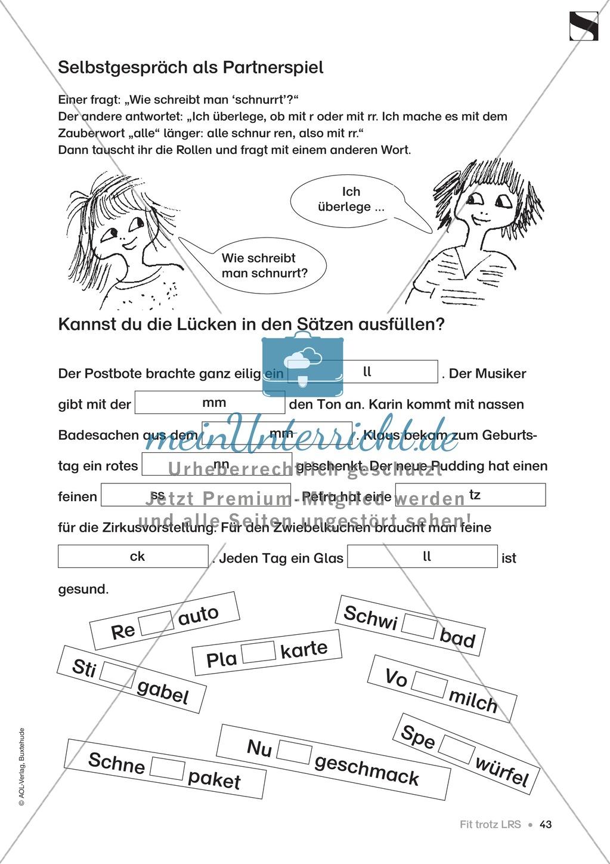 """Übungen für Kinder mit LRS: """"alle"""" und """"viel"""" als Verlängerungswörter zur richtigen Rechtschreibung verwenden Preview 14"""