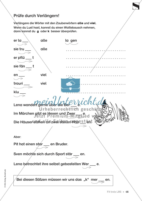"""Übungen für Kinder mit LRS: """"alle"""" und """"viel"""" als Verlängerungswörter zur richtigen Rechtschreibung verwenden Preview 17"""
