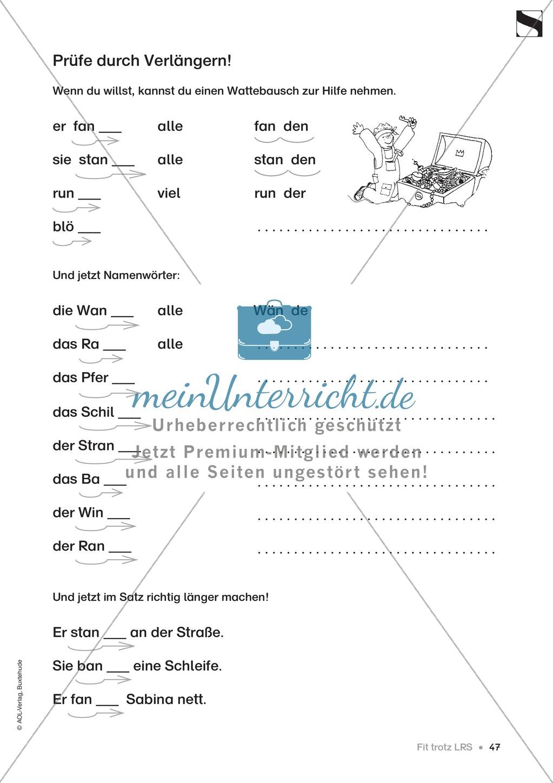 """Übungen für Kinder mit LRS: """"alle"""" und """"viel"""" als Verlängerungswörter zur richtigen Rechtschreibung verwenden Preview 18"""