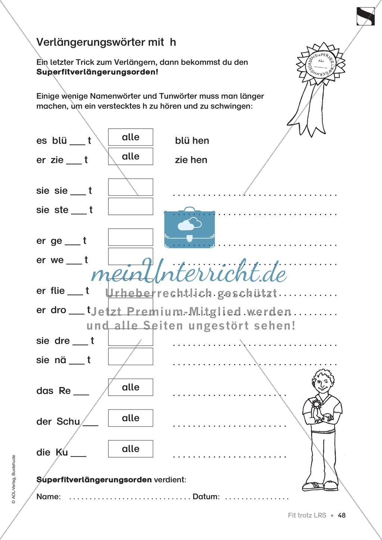 """Übungen für Kinder mit LRS: """"alle"""" und """"viel"""" als Verlängerungswörter zur richtigen Rechtschreibung verwenden Preview 19"""