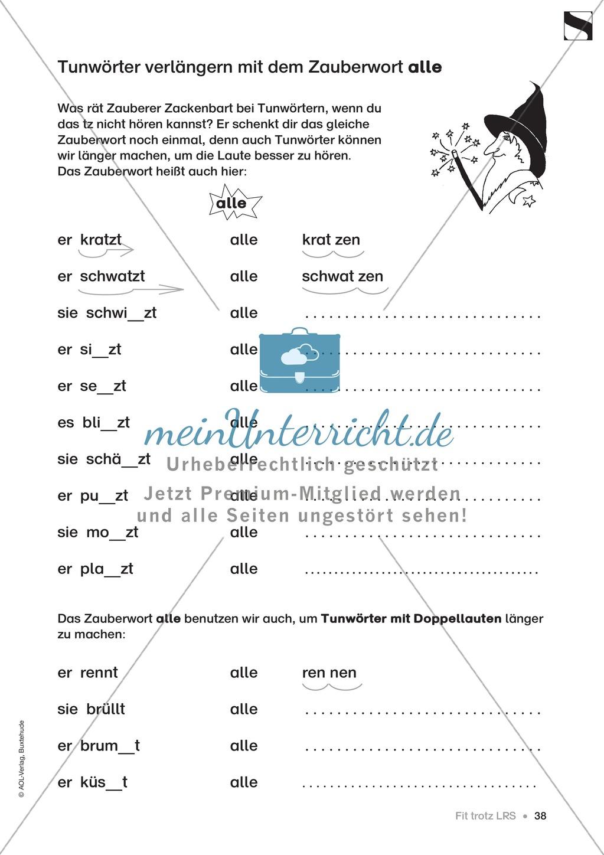 """Übungen für Kinder mit LRS: """"alle"""" und """"viel"""" als Verlängerungswörter zur richtigen Rechtschreibung verwenden Preview 9"""