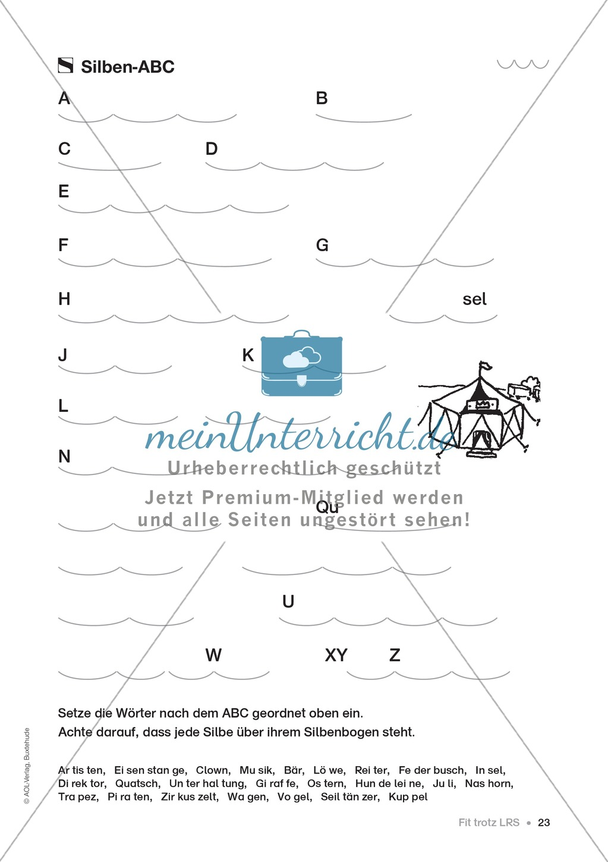 Übungen für Kinder mit LRS: Strategien für Rechtschreibübungen - Silbenschwingen, Verlängerungswörter, Merkwörter und Ableiten Preview 14