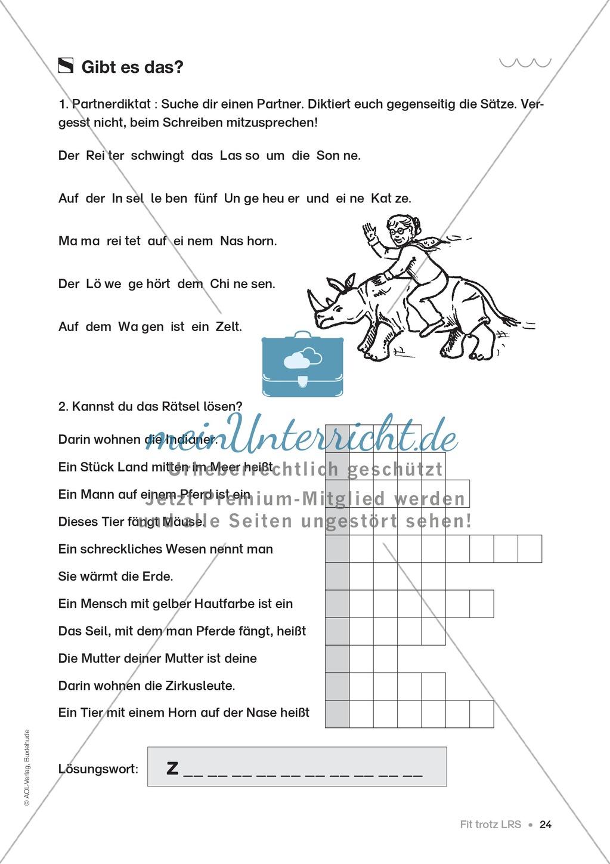 Übungen für Kinder mit LRS: Strategien für Rechtschreibübungen - Silbenschwingen, Verlängerungswörter, Merkwörter und Ableiten Preview 16