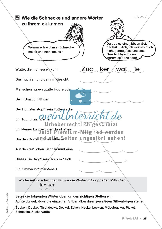 Übungen für Kinder mit LRS: Strategien für Rechtschreibübungen - Silbenschwingen, Verlängerungswörter, Merkwörter und Ableiten Preview 19