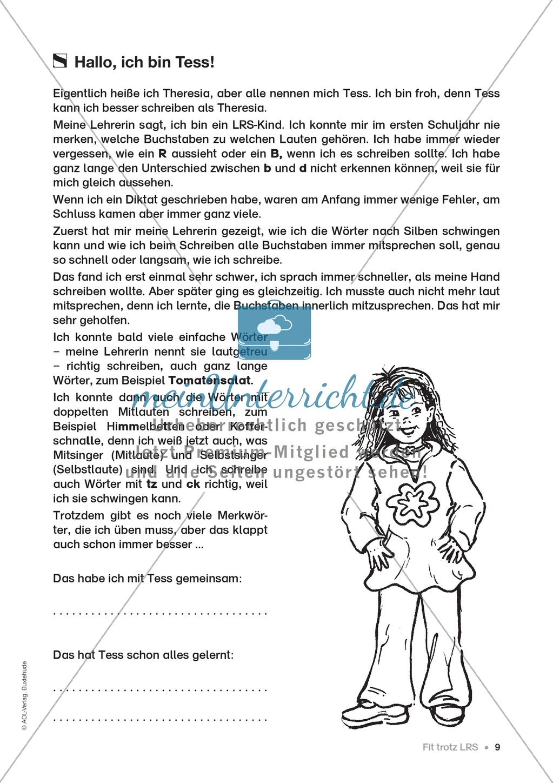 Übungen für Kinder mit LRS: Strategien für Rechtschreibübungen - Silbenschwingen, Verlängerungswörter, Merkwörter und Ableiten Preview 1