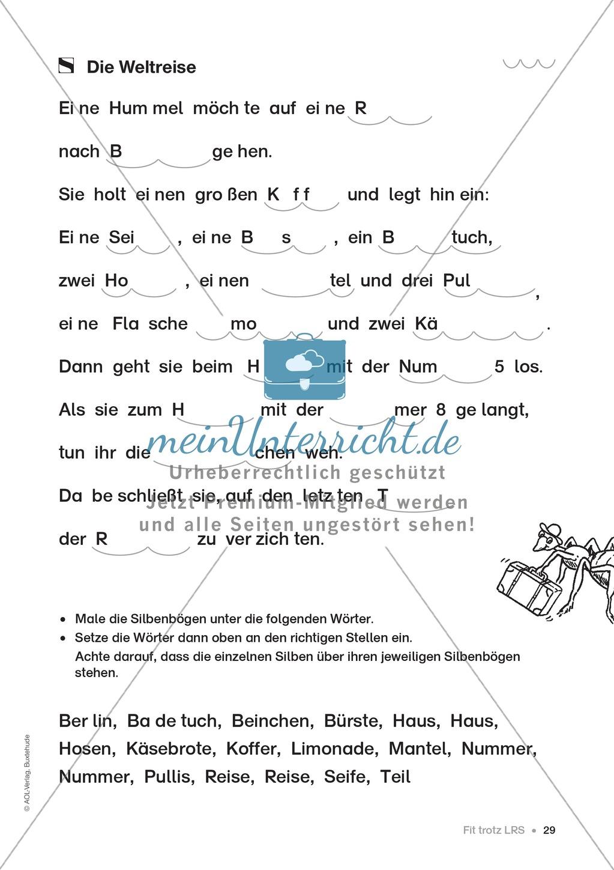 Übungen für Kinder mit LRS: Strategien für Rechtschreibübungen - Silbenschwingen, Verlängerungswörter, Merkwörter und Ableiten Preview 20