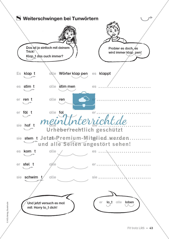 Übungen für Kinder mit LRS: Strategien für Rechtschreibübungen - Silbenschwingen, Verlängerungswörter, Merkwörter und Ableiten Preview 34