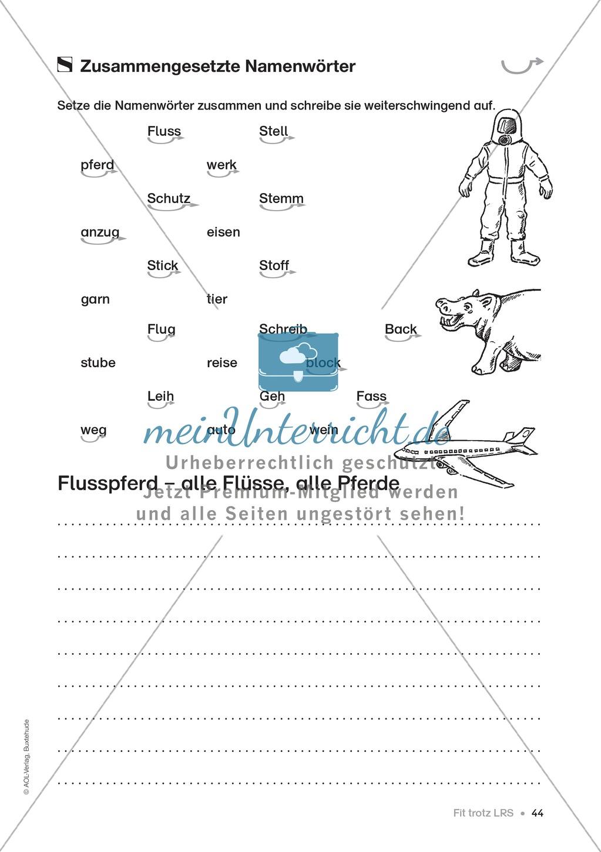 Übungen für Kinder mit LRS: Strategien für Rechtschreibübungen - Silbenschwingen, Verlängerungswörter, Merkwörter und Ableiten Preview 36