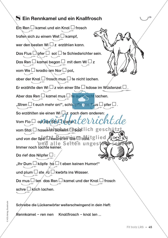 Übungen für Kinder mit LRS: Strategien für Rechtschreibübungen - Silbenschwingen, Verlängerungswörter, Merkwörter und Ableiten Preview 37