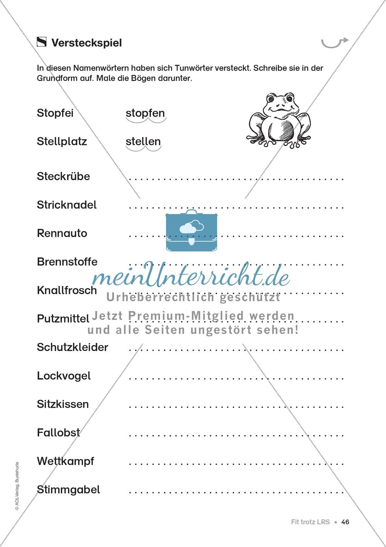 Übungen für Kinder mit LRS: Strategien für Rechtschreibübungen - Silbenschwingen, Verlängerungswörter, Merkwörter und Ableiten Preview 38