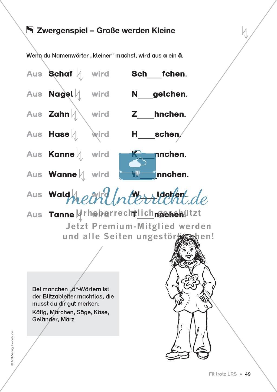 Übungen für Kinder mit LRS: Strategien für Rechtschreibübungen - Silbenschwingen, Verlängerungswörter, Merkwörter und Ableiten Preview 40