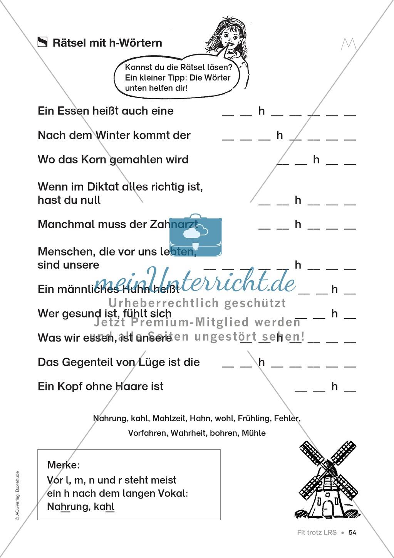 Übungen für Kinder mit LRS: Strategien für Rechtschreibübungen - Silbenschwingen, Verlängerungswörter, Merkwörter und Ableiten Preview 46
