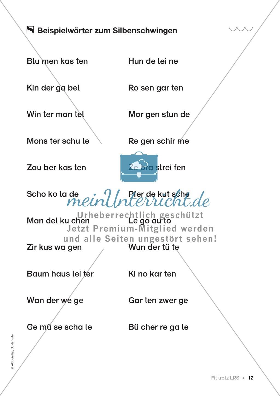 Übungen für Kinder mit LRS: Strategien für Rechtschreibübungen - Silbenschwingen, Verlängerungswörter, Merkwörter und Ableiten Preview 4
