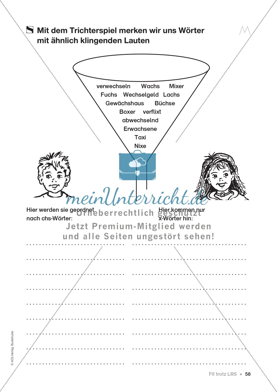 Übungen für Kinder mit LRS: Strategien für Rechtschreibübungen - Silbenschwingen, Verlängerungswörter, Merkwörter und Ableiten Preview 49