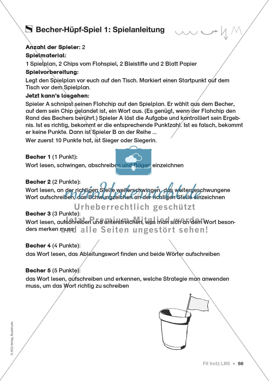 Übungen für Kinder mit LRS: Strategien für Rechtschreibübungen - Silbenschwingen, Verlängerungswörter, Merkwörter und Ableiten Preview 57