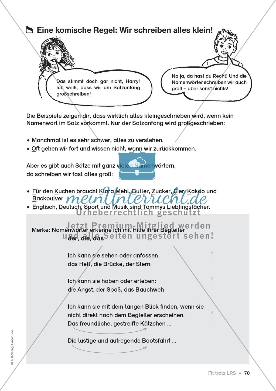 Übungen für Kinder mit LRS: Strategien für Rechtschreibübungen - Silbenschwingen, Verlängerungswörter, Merkwörter und Ableiten Preview 62