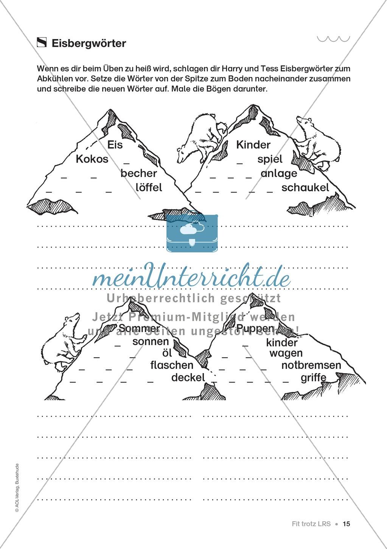 Übungen für Kinder mit LRS: Strategien für Rechtschreibübungen - Silbenschwingen, Verlängerungswörter, Merkwörter und Ableiten Preview 7