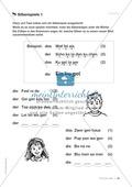 Übungen für Kinder mit LRS: Strategien für Rechtschreibübungen - Silbenschwingen, Verlängerungswörter, Merkwörter und Ableiten Preview 8