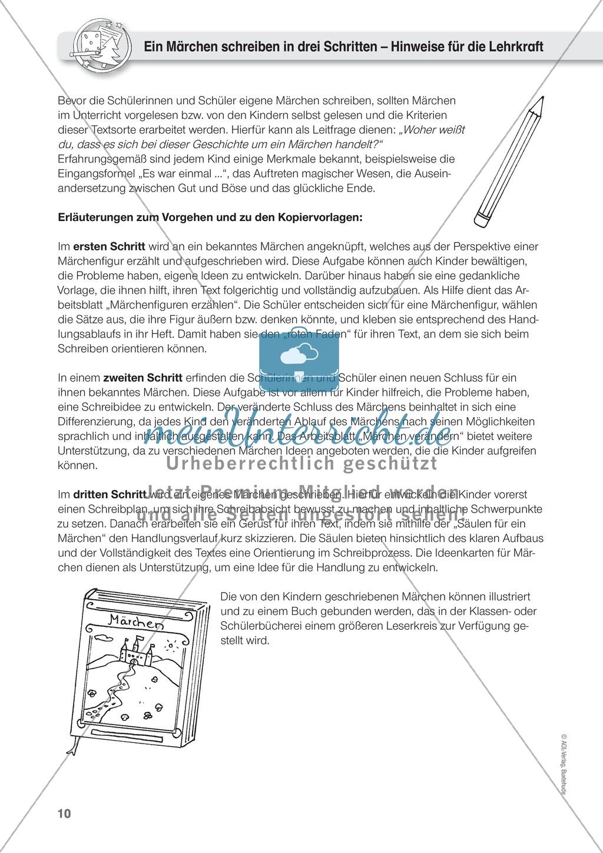 Textverständnis und Kreativität: Märchen schreiben. Mit Arbeitsbögen ...