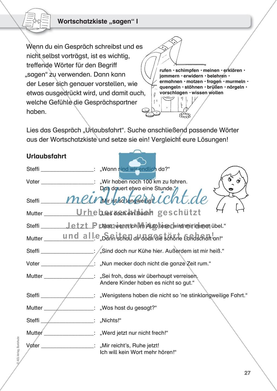 Berühmt Dialog Arbeitsblatt Für Die Klasse Zu Schreiben 3 Bilder ...
