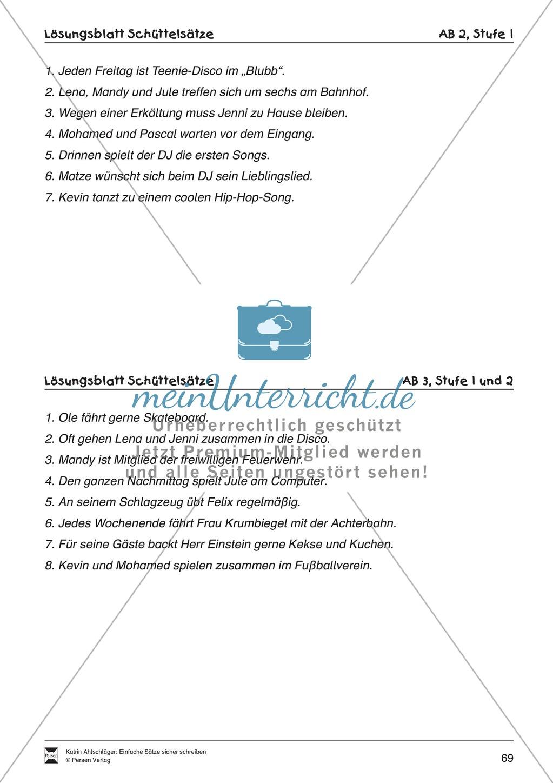 Einfache Sätze richtig schreiben: Übungsblätter zu  Schüttelsätzen Preview 10