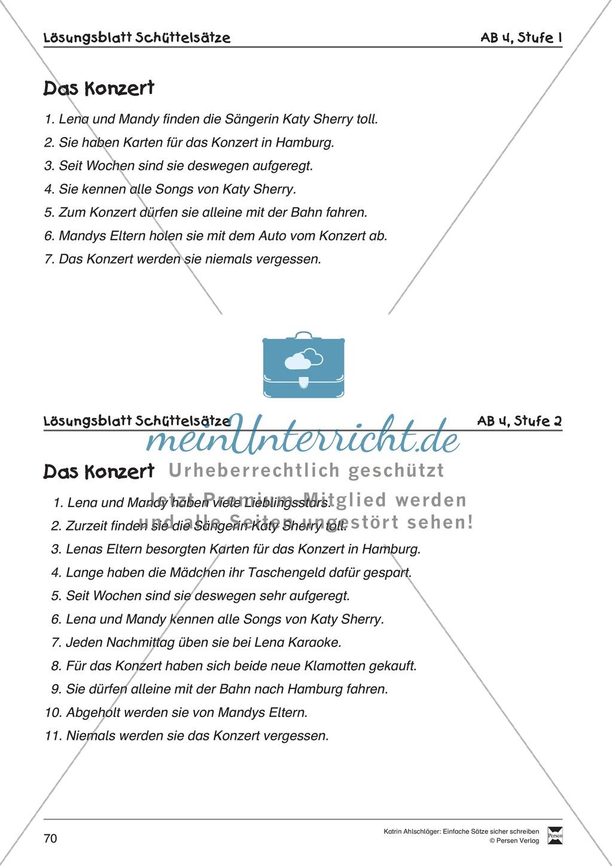 Einfache Sätze richtig schreiben: Übungsblätter zu  Schüttelsätzen Preview 11