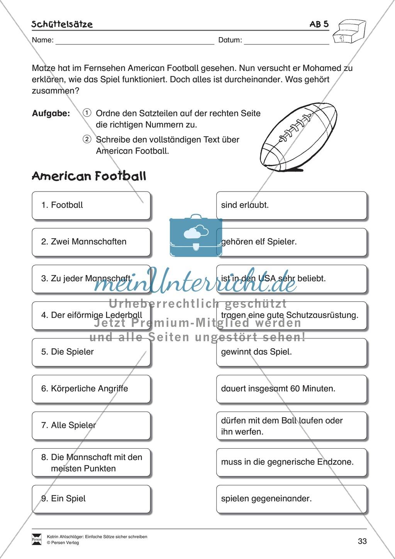 Einfache Sätze richtig schreiben: Übungsblätter zu  Schüttelsätzen Preview 8