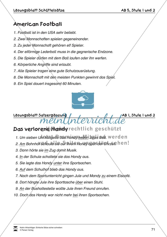 Einfache Sätze richtig schreiben: Übungsblätter zu  Satzergänzungen Preview 8