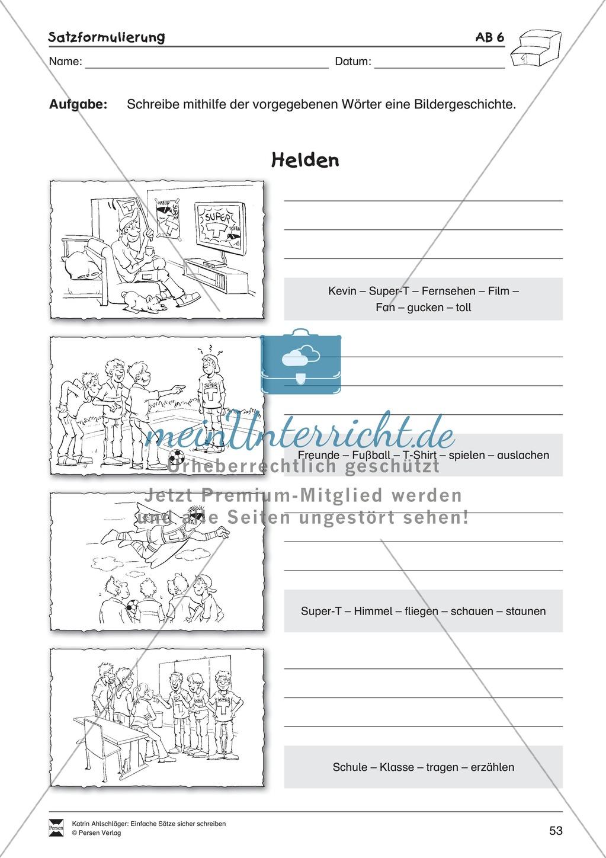 Einfache Sätze richtig schreiben: Übungsblätter zu Satzformulierungen Preview 10