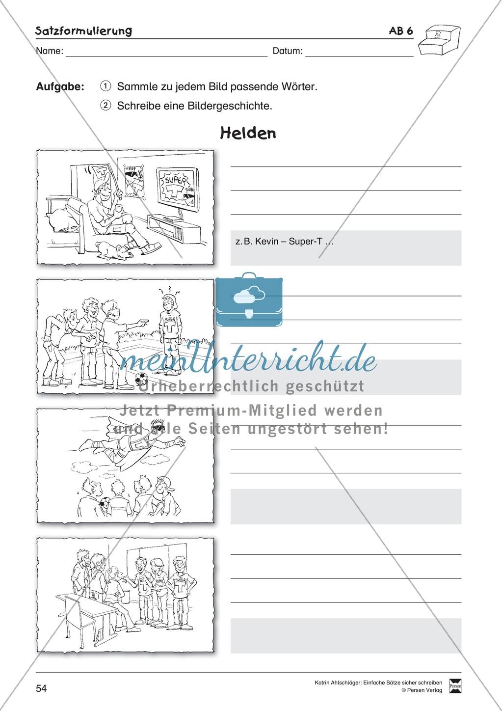 Einfache Sätze richtig schreiben: Übungsblätter zu Satzformulierungen Preview 11