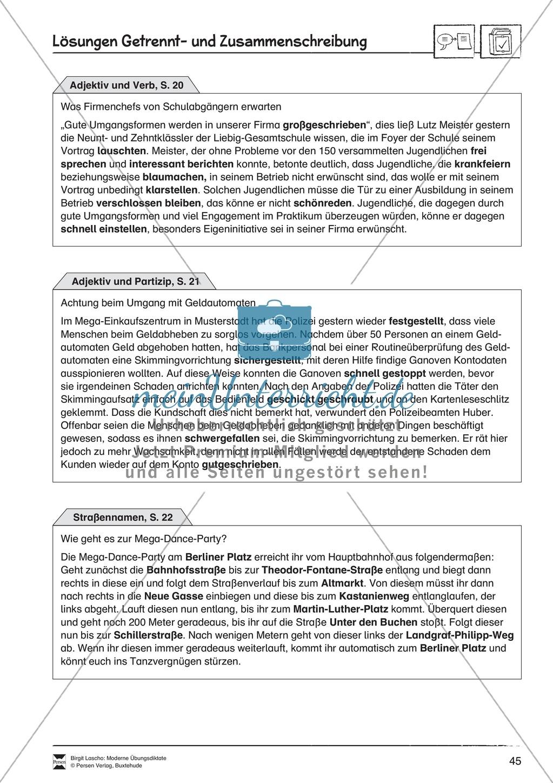 Übungsdiktate zum Üben von Getrennt- und Zusammenschreibung durchführen Preview 3