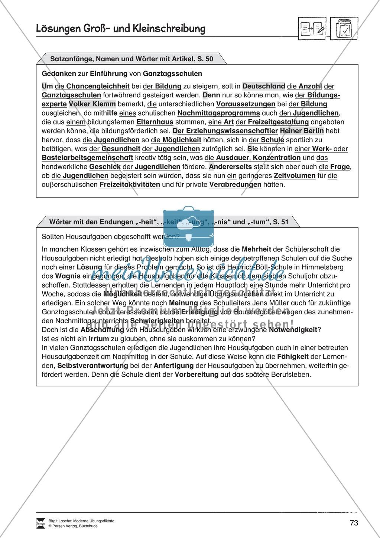 Abschreibdiktate zum Üben von Groß- und Kleinschreibung du Preview 5