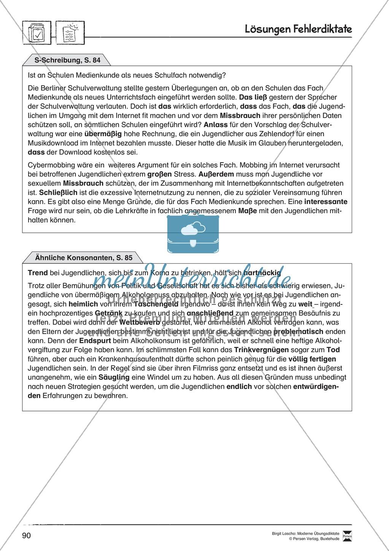 Fehlerdiktate zum Üben von S-Schreibung durchführen Preview 1