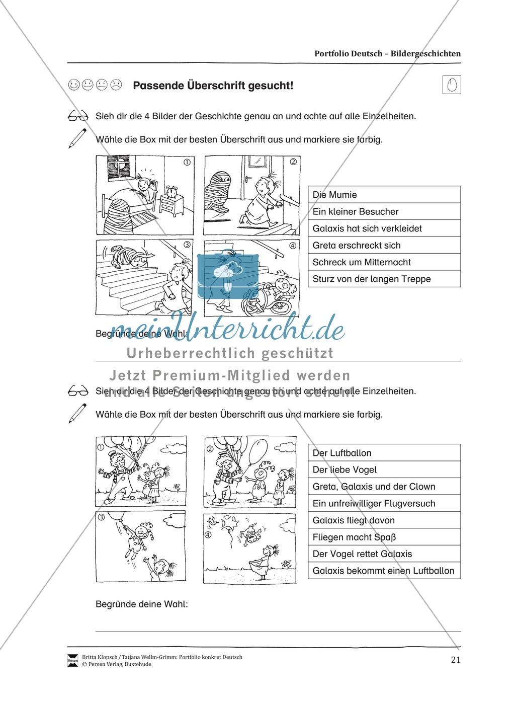 Kopiervorlagen für Aufsatzerziehung am Beispiel Bildergeschichte Preview 13
