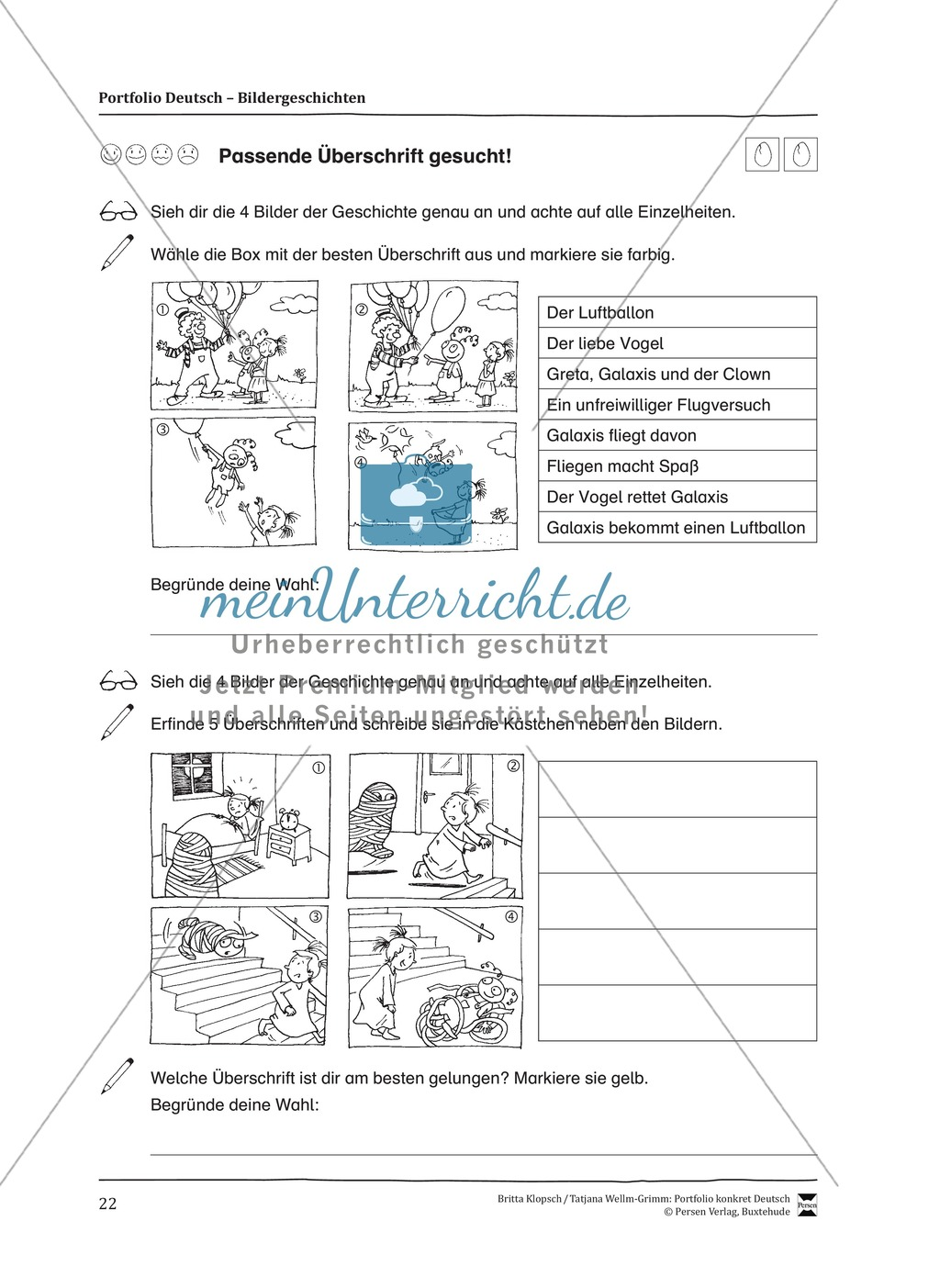 Kopiervorlagen für Aufsatzerziehung am Beispiel Bildergeschichte Preview 14
