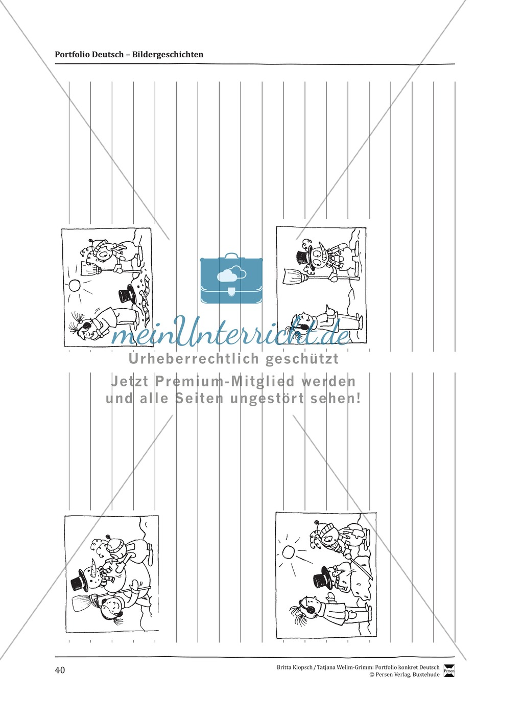 Kopiervorlagen für Aufsatzerziehung am Beispiel Bildergeschichte Preview 32