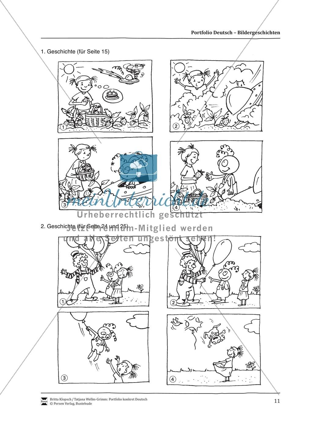 Kopiervorlagen für Aufsatzerziehung am Beispiel Bildergeschichte Preview 3