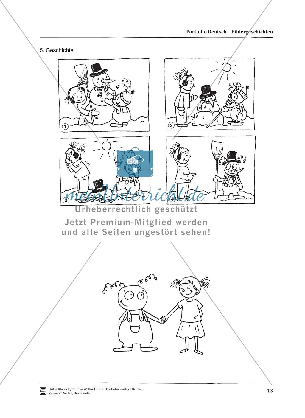 Kopiervorlagen für Aufsatzerziehung am Beispiel Bildergeschichte Preview 5