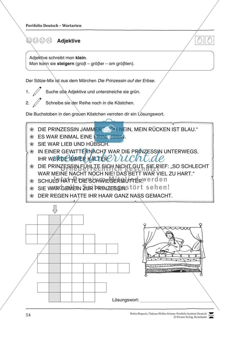 Kopiervorlagen für den Themenbereich Wortarten Preview 11